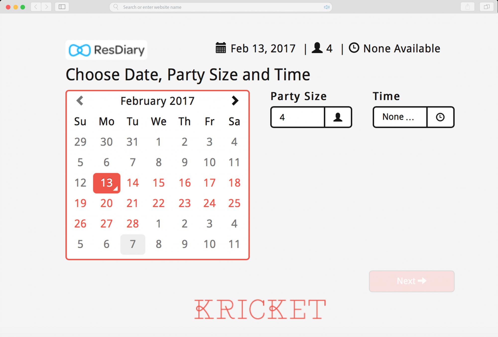online booking widget