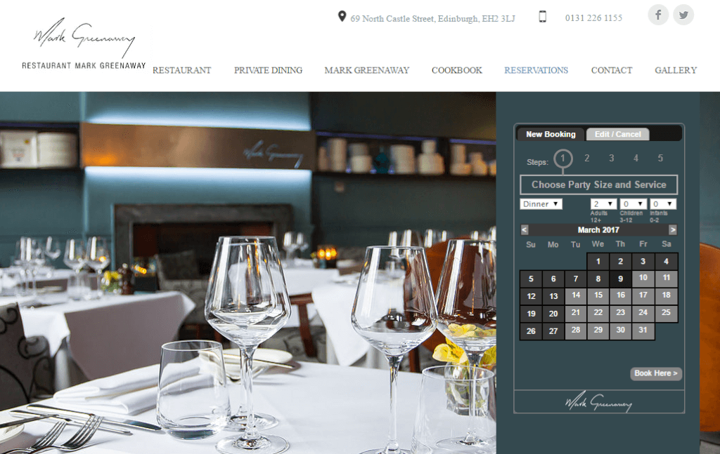 online booking widget