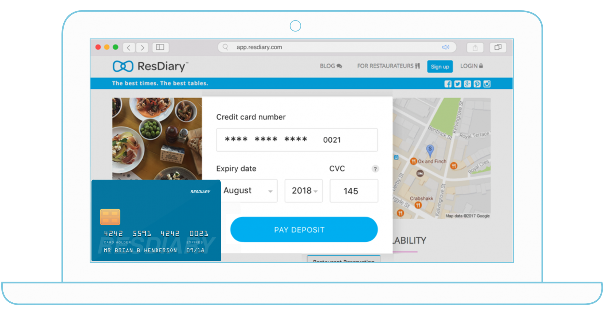 restaurant pre orders app