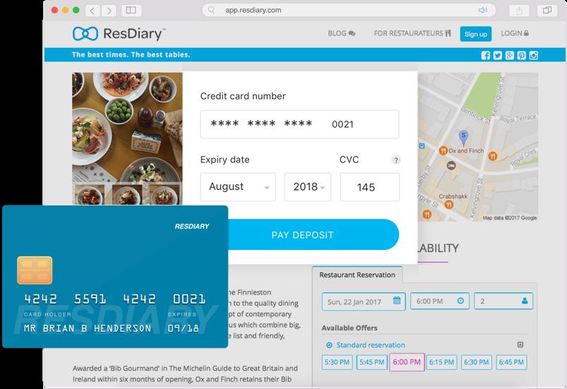 Restaurant reservation system